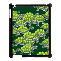 Seamless Tile Background Abstract Turtle Turtles Apple Ipad 3/4 Case (black)