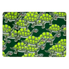 Seamless Tile Background Abstract Turtle Turtles Samsung Galaxy Tab 10 1  P7500 Flip Case