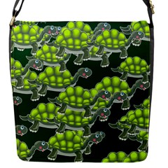 Seamless Tile Background Abstract Turtle Turtles Flap Messenger Bag (s)