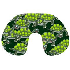Seamless Tile Background Abstract Turtle Turtles Travel Neck Pillows