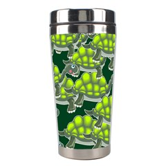 Seamless Tile Background Abstract Turtle Turtles Stainless Steel Travel Tumblers