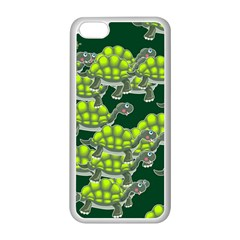 Seamless Tile Background Abstract Turtle Turtles Apple Iphone 5c Seamless Case (white)