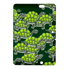 Seamless Tile Background Abstract Turtle Turtles Kindle Fire Hdx 8 9  Hardshell Case