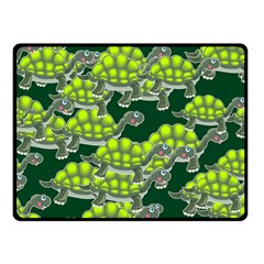 Seamless Tile Background Abstract Turtle Turtles Double Sided Fleece Blanket (small)