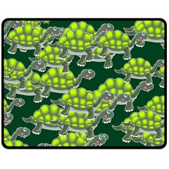 Seamless Tile Background Abstract Turtle Turtles Double Sided Fleece Blanket (medium)