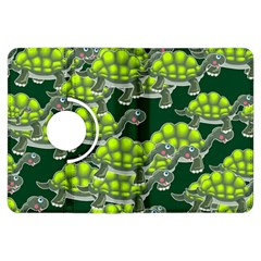 Seamless Tile Background Abstract Turtle Turtles Kindle Fire Hdx Flip 360 Case
