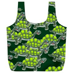 Seamless Tile Background Abstract Turtle Turtles Full Print Recycle Bags (l)