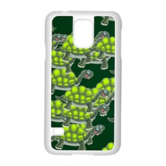 Seamless Tile Background Abstract Turtle Turtles Samsung Galaxy S5 Case (white)