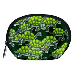 Seamless Tile Background Abstract Turtle Turtles Accessory Pouches (medium)