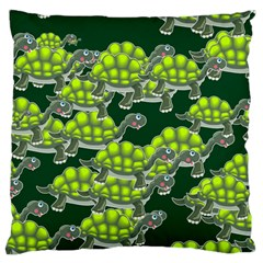 Seamless Tile Background Abstract Turtle Turtles Large Flano Cushion Case (two Sides)