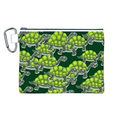 Seamless Tile Background Abstract Turtle Turtles Canvas Cosmetic Bag (l)
