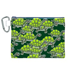 Seamless Tile Background Abstract Turtle Turtles Canvas Cosmetic Bag (xl)