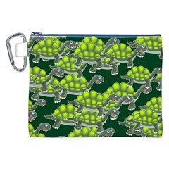 Seamless Tile Background Abstract Turtle Turtles Canvas Cosmetic Bag (XXL)