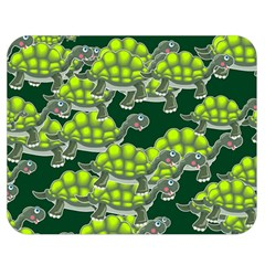 Seamless Tile Background Abstract Turtle Turtles Double Sided Flano Blanket (medium)