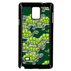 Seamless Tile Background Abstract Turtle Turtles Samsung Galaxy Note 4 Case (Black)