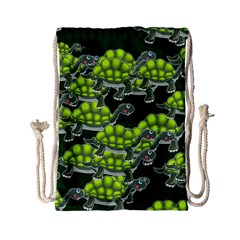 Seamless Tile Background Abstract Turtle Turtles Drawstring Bag (small)
