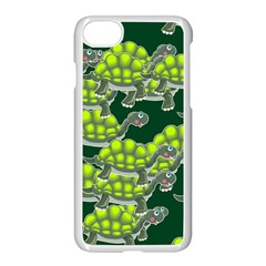 Seamless Tile Background Abstract Turtle Turtles Apple Iphone 7 Seamless Case (white)