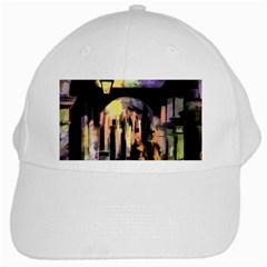 Street Colorful Abstract People White Cap