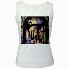 Street Colorful Abstract People Women s White Tank Top
