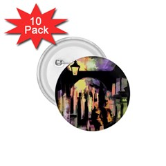 Street Colorful Abstract People 1 75  Buttons (10 Pack)