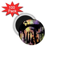 Street Colorful Abstract People 1 75  Magnets (100 Pack)