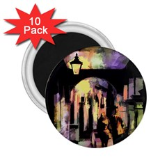 Street Colorful Abstract People 2 25  Magnets (10 Pack)