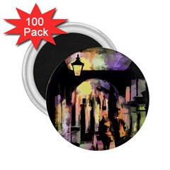 Street Colorful Abstract People 2 25  Magnets (100 Pack)