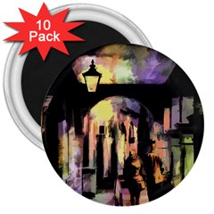 Street Colorful Abstract People 3  Magnets (10 pack)