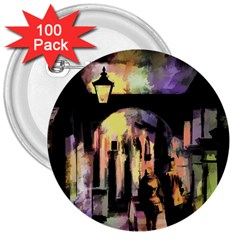Street Colorful Abstract People 3  Buttons (100 Pack)