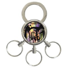 Street Colorful Abstract People 3-Ring Key Chains