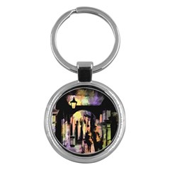 Street Colorful Abstract People Key Chains (round)