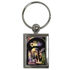 Street Colorful Abstract People Key Chains (rectangle)