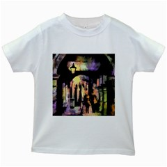 Street Colorful Abstract People Kids White T-Shirts