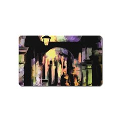 Street Colorful Abstract People Magnet (name Card)