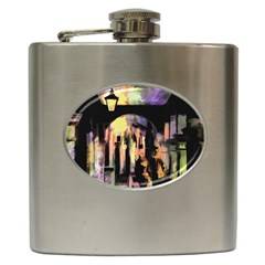 Street Colorful Abstract People Hip Flask (6 Oz)