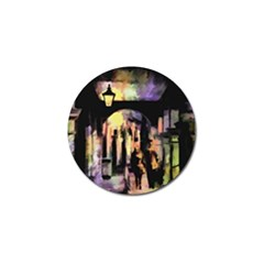 Street Colorful Abstract People Golf Ball Marker