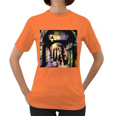 Street Colorful Abstract People Women s Dark T Shirt