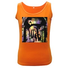 Street Colorful Abstract People Women s Dark Tank Top