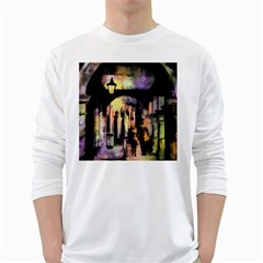 Street Colorful Abstract People White Long Sleeve T Shirts