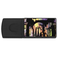 Street Colorful Abstract People Usb Flash Drive Rectangular (4 Gb)