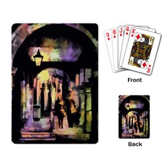 Street Colorful Abstract People Playing Card