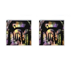 Street Colorful Abstract People Cufflinks (Square)