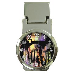 Street Colorful Abstract People Money Clip Watches