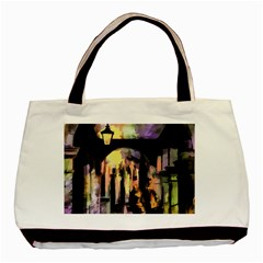 Street Colorful Abstract People Basic Tote Bag