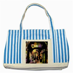 Street Colorful Abstract People Striped Blue Tote Bag