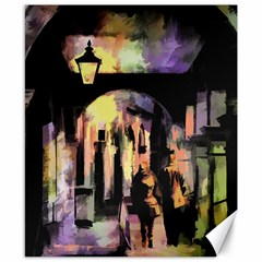 Street Colorful Abstract People Canvas 8  X 10
