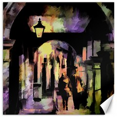 Street Colorful Abstract People Canvas 16  x 16