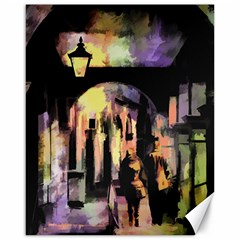 Street Colorful Abstract People Canvas 16  X 20