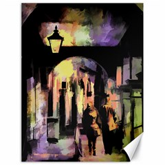 Street Colorful Abstract People Canvas 18  X 24