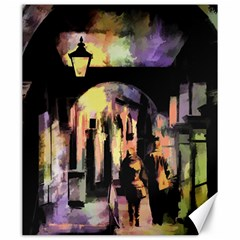 Street Colorful Abstract People Canvas 20  x 24